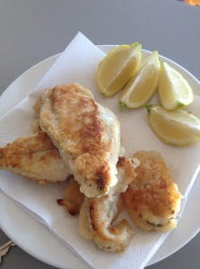 Some XXXX gold beer-battered flathead and tailor
