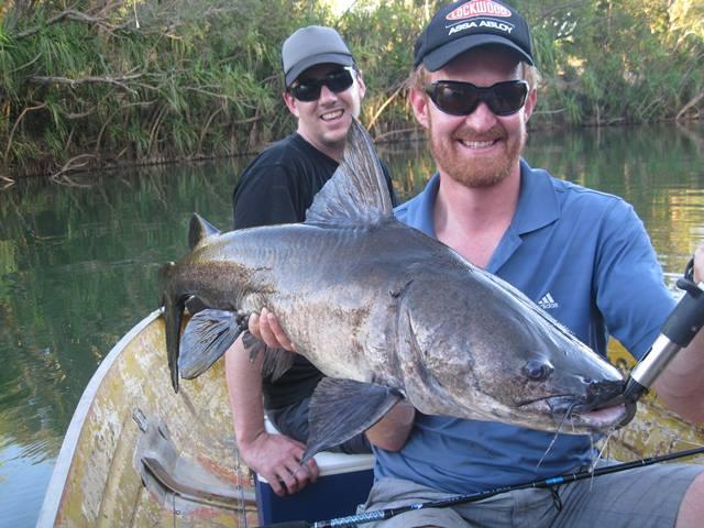 Hayden with a `freshwater jewie'