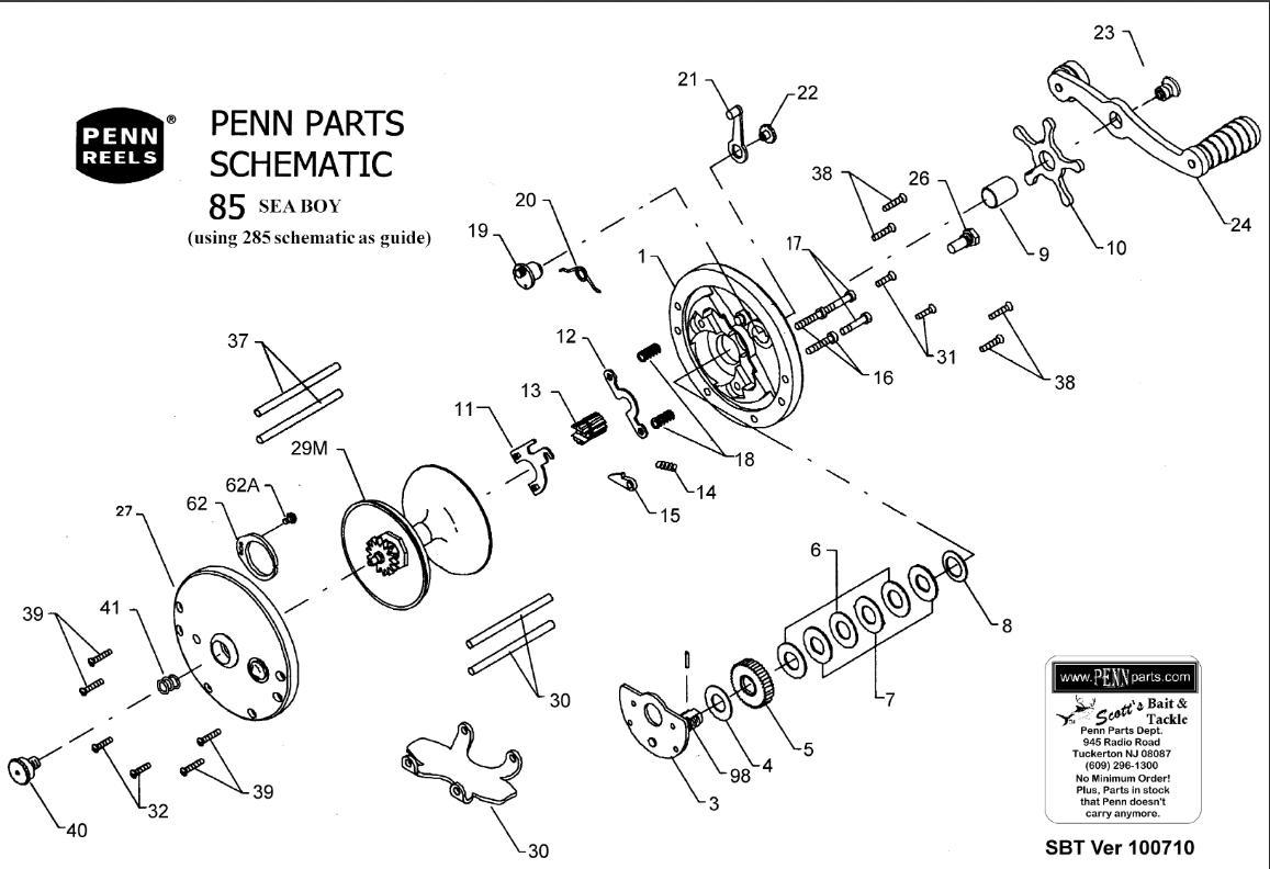 Penn fishing reel parts diagram periodic diagrams science for Fishing reel parts diagram